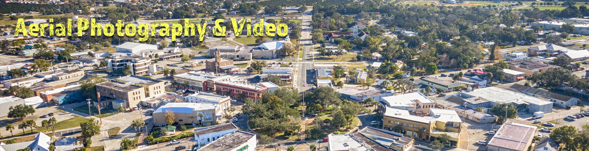 Aerial Photo of the Sebring Cirle Downtown Sebring, Florida