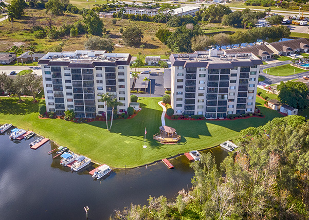 Aerial Photography - Condos on Lake Grassy, Lake Placid Florida