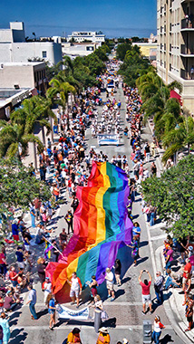Aerial Photographer of Palm Beach Pride Parade Lake Worth, Florida