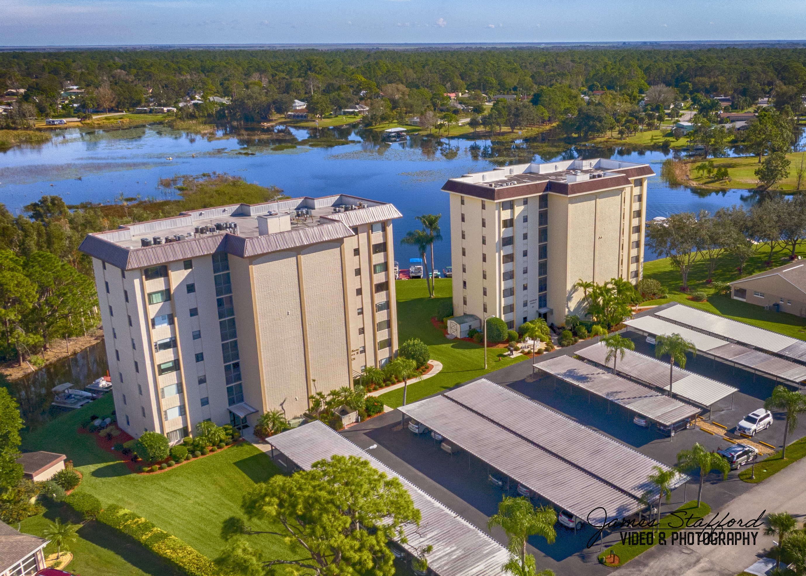 Apartment Building on Lake Grassy in Lake Placid, Florida